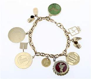 Mariner's Link Charm Bracelet with 9 Charms