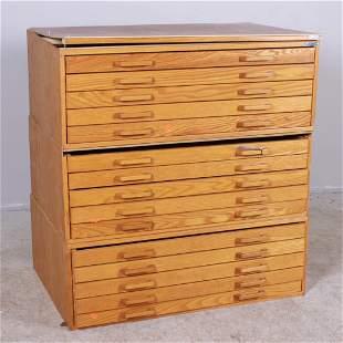 Stacor 3-pc oak architectural cabinet