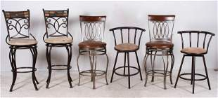 (6) Assembled bar stools