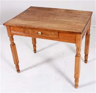 Sheraton pine one drawer desk