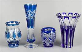 (4) Val St. Lambert and Style Vases