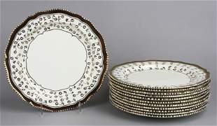 (12) Wedgwood Lustre Dinner Plates