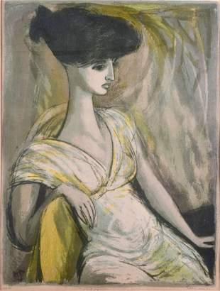 "Benton Spruance Lithograph ""White Figure"""