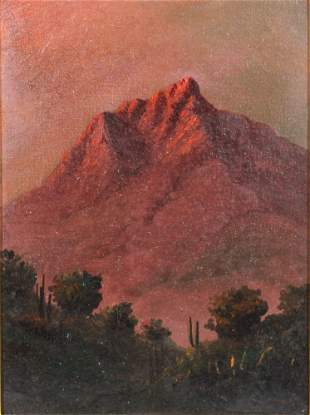 19th C American Mountain Landscape Painting