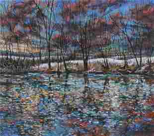 Contemporary Pastel Landscape Painting