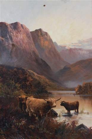 19th C British Landscape with Cattle