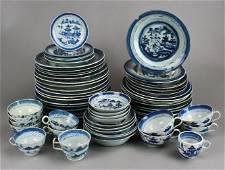 62-Piece Set of Chinese Canton Dinnerware