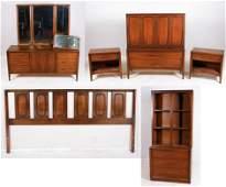 (7) pc JB Van Sciver Modern Design Bedroom Set
