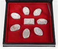 (8) Franklin Mint Guards Regiment Sterling Boxes