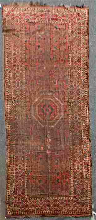 "8'7"" X 21'7"" Antique Afghani Rug"