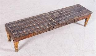 Victorian carved wood and alligator skin fireplace