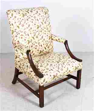 Mahogany Chippendale Style Lolling Chair