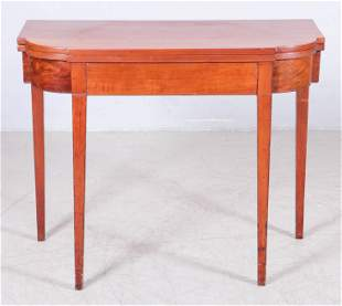 Cherry Hepplewhite Card Table