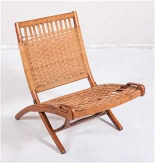 Hans Wegner style folding rope chair