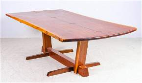 Conoid Style Dining Table in the manner of Nakashima