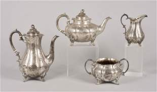 4 Pc Victorian Sterling Silver Tea/Coffee Set