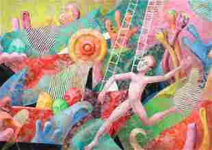 Yankel Ginzburg Lg Format Surrealist Composition