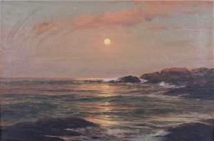 """Warren Sheppard """"Seascape at Sunset"""""""