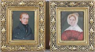 Pr 19th C Miniature Portrait Paintings