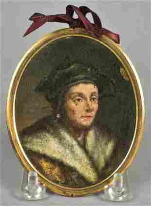 17th-18th C Miniature Portrait Painting