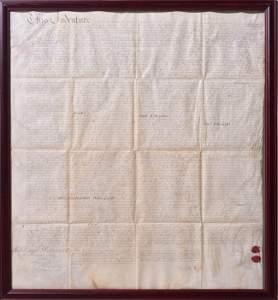Franklin, Benjamin, 1753 Signed Indenture