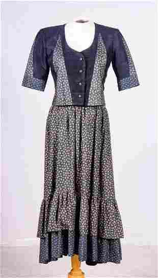 Yves Saint Laurent Rive Gauche All Silk Skirt Set