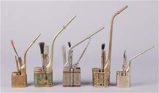 (5) Chinese Opium Pipes