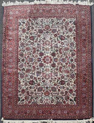 """8'2"""" X 11'4"""" Semi Antique Persian Sarouk Rug"""