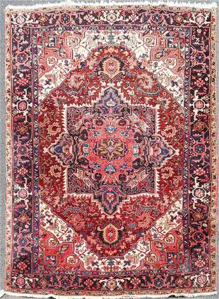 "7'9"" X 10'11 Semi Antique Persian Heriz Rug"
