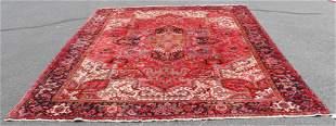 "10'4"" X 12'9"" Semi Antique Persian Heriz Rug"