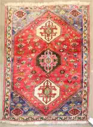 """3'9"""" X 5'3"""" Semi Antique Kurdish Rug"""