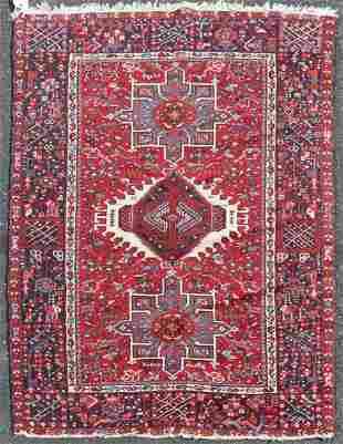 "4'8"" X 6'4"" Semi Antique Persian Karajai Rug"