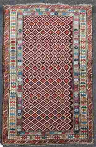 4' X 6' Antique Caucasian Shirvan Rug