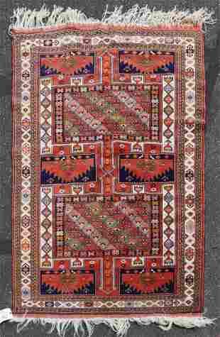 """3'11"""" X 5'2"""" Semi Antique Persian Khorassan Rug"""