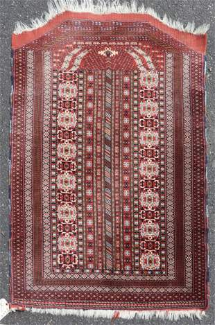 "3'2"" X 4'7"" Persian Bokhara Prayer Rug"
