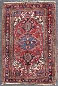 """3'4"""" X 5' Antique Persian Heriz Rug"""
