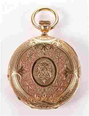 18K YG National Watch Co Pocket Watch KW/KS