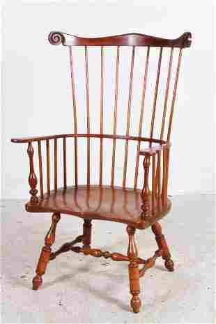 L & JG Stickley Cherry Windsor armchair