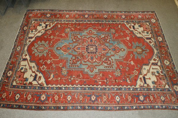 "1: 9' 4"" x 12' 8"" Karaja carpet"