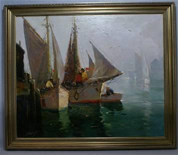 316: Anthony Thieme, American, 1888-1954, o/c, Sunbreak