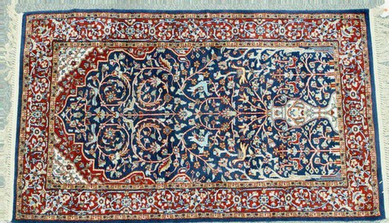 2: 3.0 x 5.0 Indo-Persian prayer rug