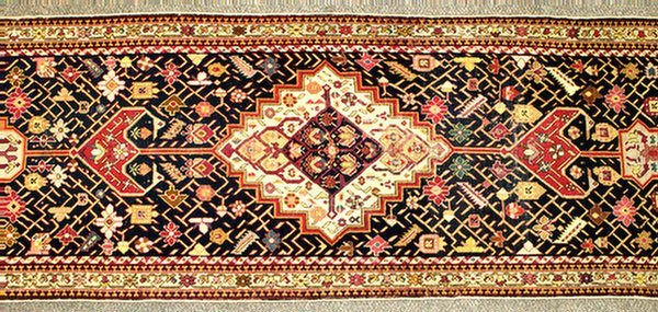 """12: 3.3 x 18.8 Caucasian rug, one end approximately 10"""""""