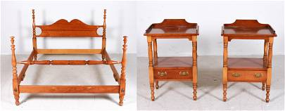 Leopold Stickley cherry Queen size bed, pr open