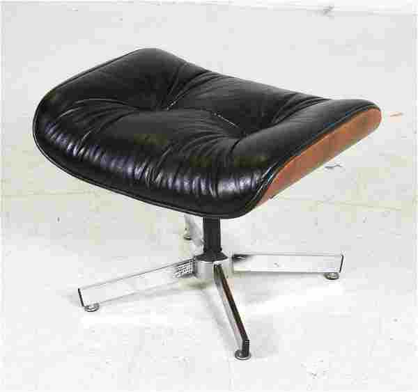Eames style leather upholstered ottoman