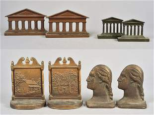 (4) Pair Figural and Architectural Cast Bookends