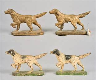 (2) Pair Hubley English Setter Bookends