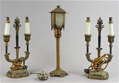 (3) Art Deco Lamp