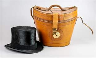 Knox Beaver Top Hat with Leather Case
