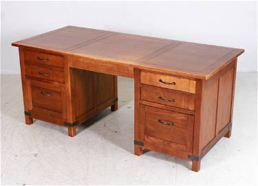 Arhaus Mission Oak executive desk