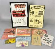 Lot of Beatles Posters & Tickets